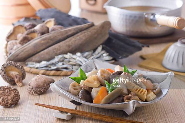 Nishime and Ingredients of Dashi