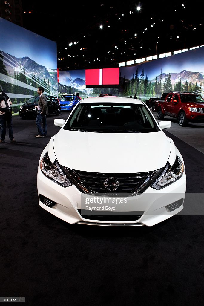 Nissan Altima is on display at the 108th Annual Chicago Auto Show at McCormick Place in Chicago Illinois on February 12 2016