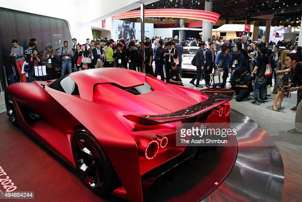 Nissan Concept 2020 Vision Gran Turismo is displayed at the Nissan Motor Co booth during the Tokyo Motor Show at Tokyo Big Sight on October 28 2015...