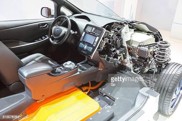 Nissan hojas de sección transversal vehículo eléctrico