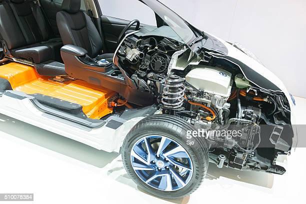 Nissan Leaf véhicule électrique Coupe transversale