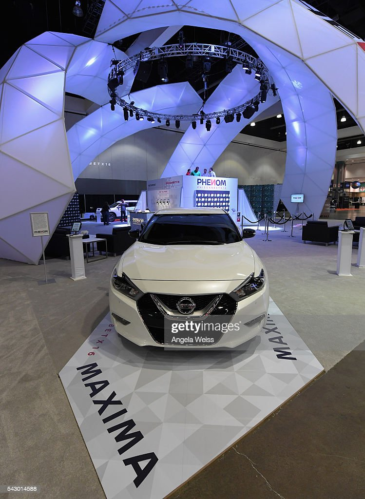 A Nissan Maxima is seen at FAN FEST during the 2016 BET Experience on June 25, 2016 in Los Angeles, California.