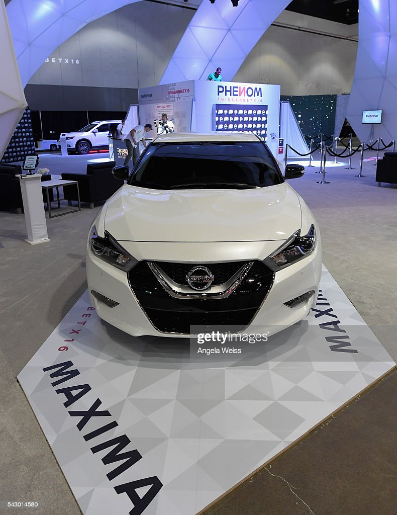 A Nissan Maxima is seen during FAN FEST during the 2016 BET Experience on June 25, 2016 in Los Angeles, California.
