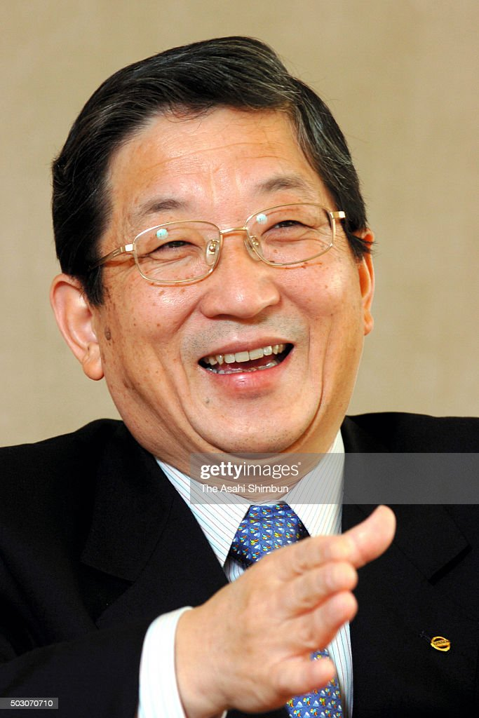 Nissan Motor Co COO Toshiyuki Shiga speaks during the Asahi Shimbun interview at the company headquarters on November 8 2006 in Tokyo Japan