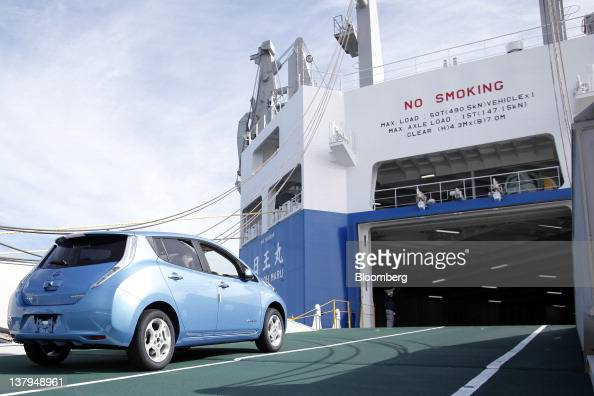 Nissan Media Event On Eco Car Carrier Ship At Oppama Wharf ...