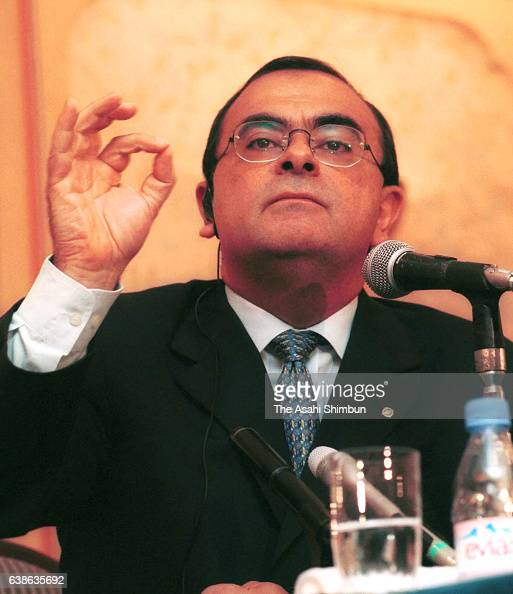 Nissan Motor Co President Carlos Ghosn speaks during a press conference on August 2 2000 in Nagoya Aichi Japan