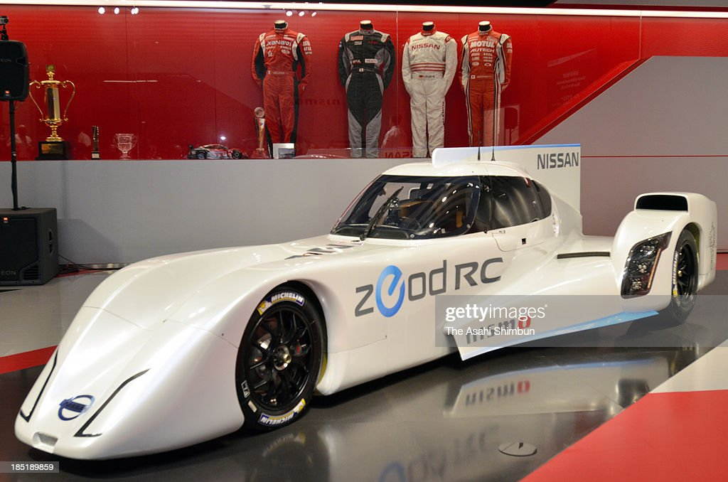 Nissan Motor Co. unveils its 'ZEOD RC' electric racing car at Nismo Headquarter on October 17, 2013 in Yokohama, Kanagawa, Japan. The ZEOD RC was shown a day before the 2013 FIA World Endurance Championship kicked off at the Fuji International Speedway in Shizuoka Prefecture. The three-day event will include demonstration runs of the hybrid racing vehicle.Nissan is also scheduled to use the ZEOD RC for trial runs at the prestigious Le Mans 24 Hours endurance race in France next year.