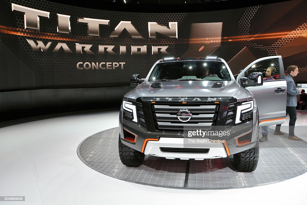 Nissan Motor Co's Titan Warrior Concept is displayed at the North American International Auto Show on January 11 2016 in Detroit Michigan Genesis is...