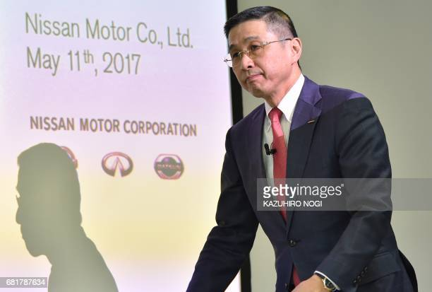 Nissan Motor President and CEO Hiroto Saikawa attends a press conference to announce the company's FY2016 fullyear financial results at Nissan Global...