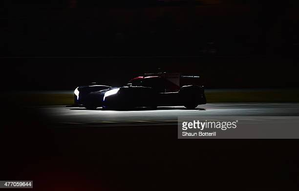 Nissan Motorsports driven by Olivier Pla Jann Mardenborough and Max Chilton during the Le Mans 24 Hour race at the Circuit de la Sarthe on June 13...