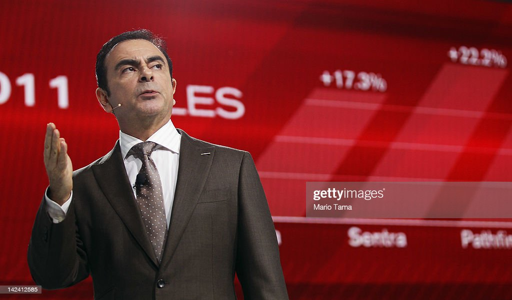 Nissan President and CEO Carlos Ghosn introduces the new 2013 Nissan Altima at the New York International Auto Show at the Jacob Javits Convention...