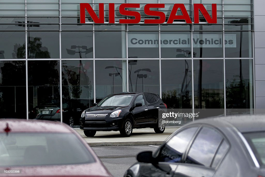 Nissan Rogue Crossover Sits On Display At Crossroads Nissan Dealership In Wake  Forest North Carolina US