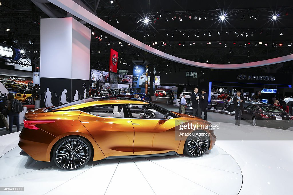 Nissan Sport Sedan is displayed during the 2014 New York International Auto Show at the Jacob Javits Center New York, United States on April 17, 2014.
