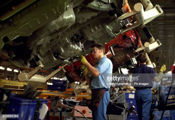 Nissan UK workers in action on the production line in it's factory in Sunderland The company announced that it is to invest 215 million in the plant...
