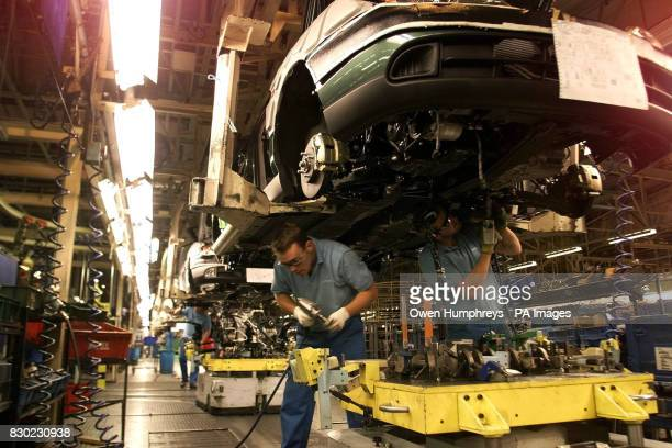 Nissan UK workers in action on the production line in it's factory in Sunderland The Nissan factory in Sunderland was Europe's most productive car...