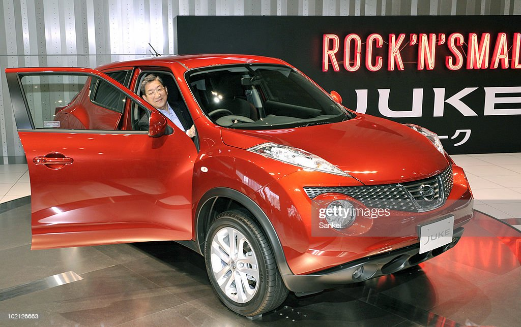 Nissan's Chief Operating Officer Toshiyuki Shiga, poses with the newly released Nissan Juke on June 9, 2010 in Yokohama, Japan. Shiga hopes for increased profile within the growing market in the US and Europe.