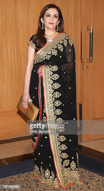 Nita Ambani at the British Asian Trust Reception on day 4 of an official visit to India on November 9 2013 in Mumbai India This will be the Royal...