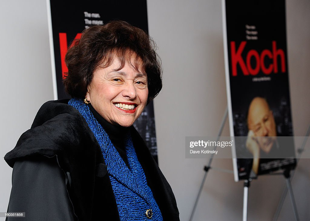 Nita Lowey attends 'Koch' New York Premiere at MOMA on January 29 2013 in New York City