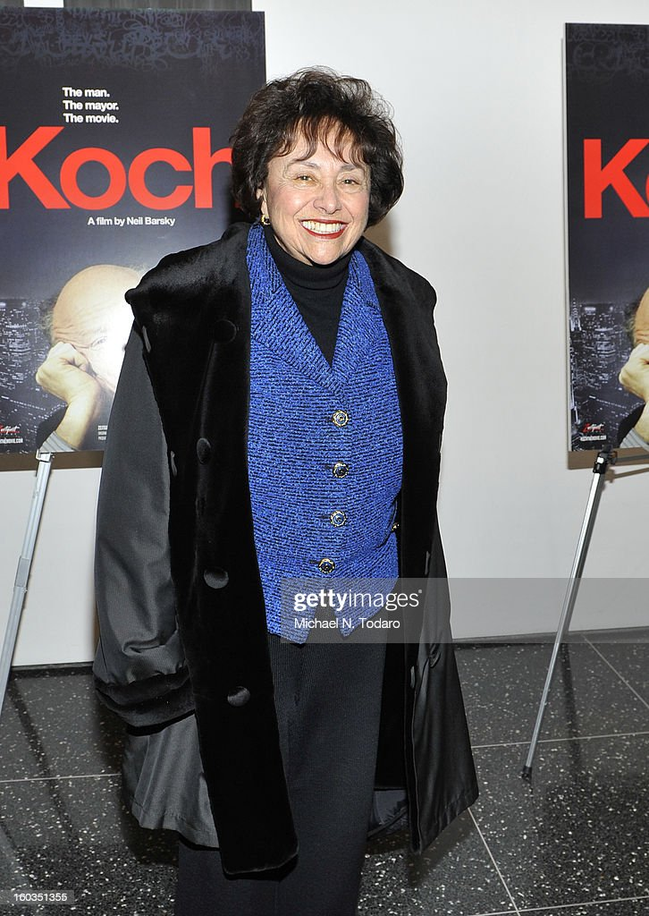Nita Lowey attends the 'Koch' premiere at The Museum of Modern Art on January 29 2013 in New York City
