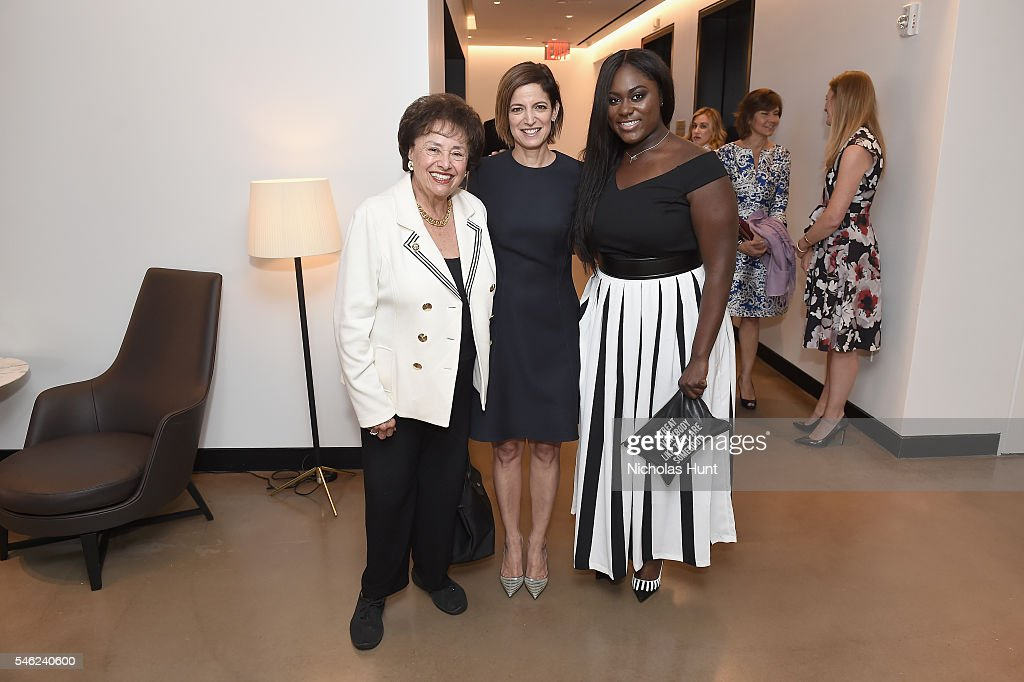 Nita Lowey Cindi Leive and Danielle Brooks attend a luncheon hosted by Glamour and Facebook to discuss the 2016 election at Samsung 837 in NYC on...
