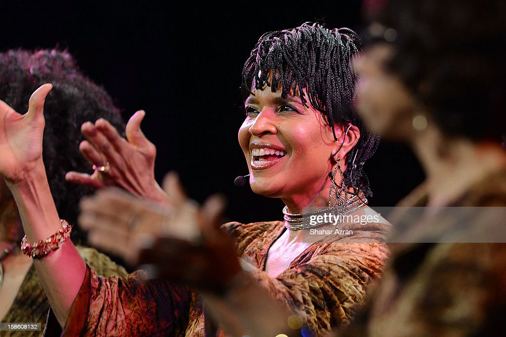 Nitanju Casel performs during Sweet Honey In The Rock: Celebrating The Holydays at The Apollo Theater on December 20, 2012 in New York City.