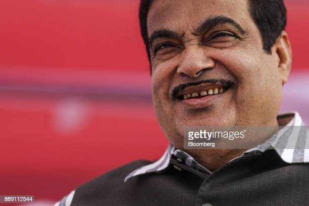 Nitin Gadkari India's road and transport minister attends a demonstration flight event for a Quest Aircraft Co amphibiousKodiakplane operated by...