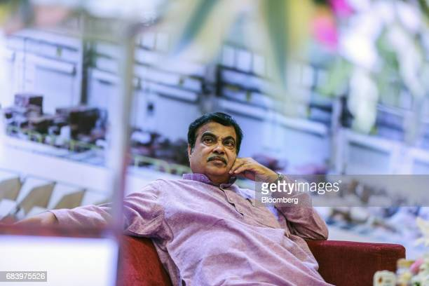 Nitin Gadkari India's road and transport minister attends the inauguration of a conveyor at a warehouse operated by Future Supply Chain Solutions Ltd...