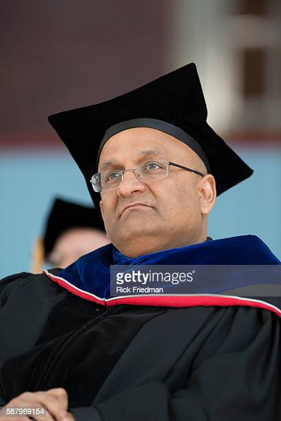 Nitin Nohri Dean of the Harvard Business School at the Harvard Business School Graduation Ceremony on the campus of Harvard Business School in Boston...