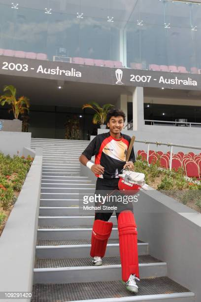 Nitish Kumar during the Canada nets session ahead of the 2011 ICC World Cup at the Mahinda Rajapaksa International Cricket Stadium on February 19...