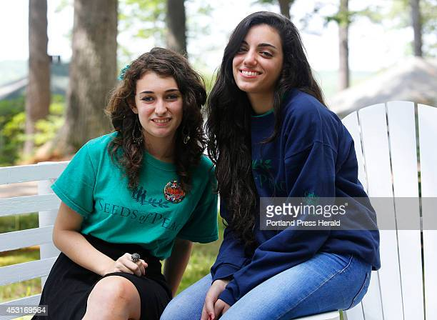 Nitsan of Modi'in Israel left and Ream a Palestinian from Israel are second year campers at Seeds of Peace