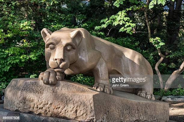 Nittany Lion mascot statue on the main campus of Penn State University