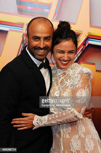 Nitzan Gilady Director and Moran Rosenblatt Actress arrive at Banqueting House for the BFI London Film Festival Awards on October 17 2015 in London...