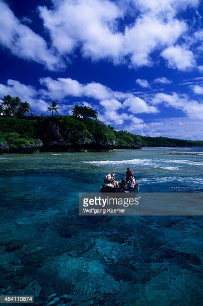 Niue Islandtourists In Zodiac