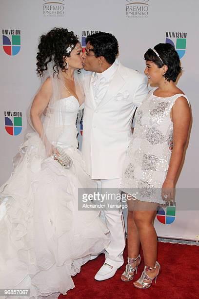 Niurka Marcos Eduardo Antonio and Romina Marcos arrive at Univisions 2010 Premio Lo Nuestro a La Musica Latina Awards at American Airlines Arena on...