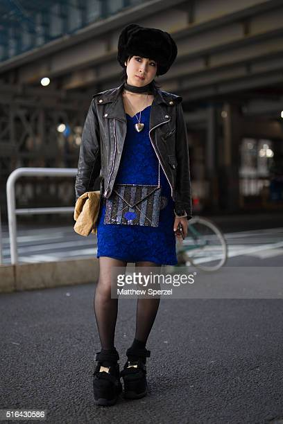 Niv Shiomi attends the Tokyo New Age show during Tokyo Fashion Week on March 18 2016 in Tokyo Japan