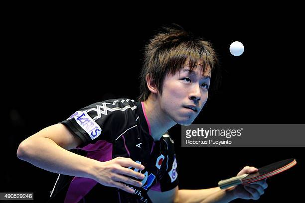Niwa Koki of Japan competes against Fan Zhendong of China during Men's Team Champion Division final match of the 22nd 2015 ITTF Asian Table Tennis...