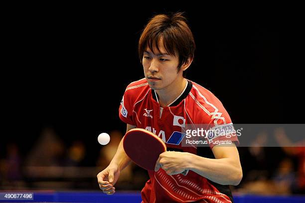 Niwa Koki of Japan competes against Wongsiri Nikom of Thailand during Men's singles first round match of the 22nd 2015 ITTF Asian Table Tennis...