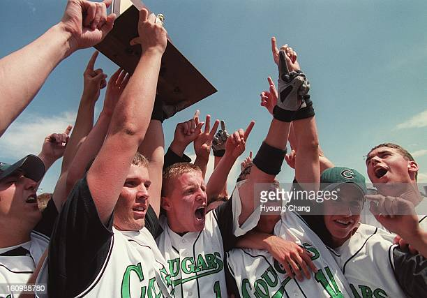 Niwot high School baseball team celebrate their winning of 4A state championship against Central of Grand Junction at AllCity Field on Saturday Niwot...