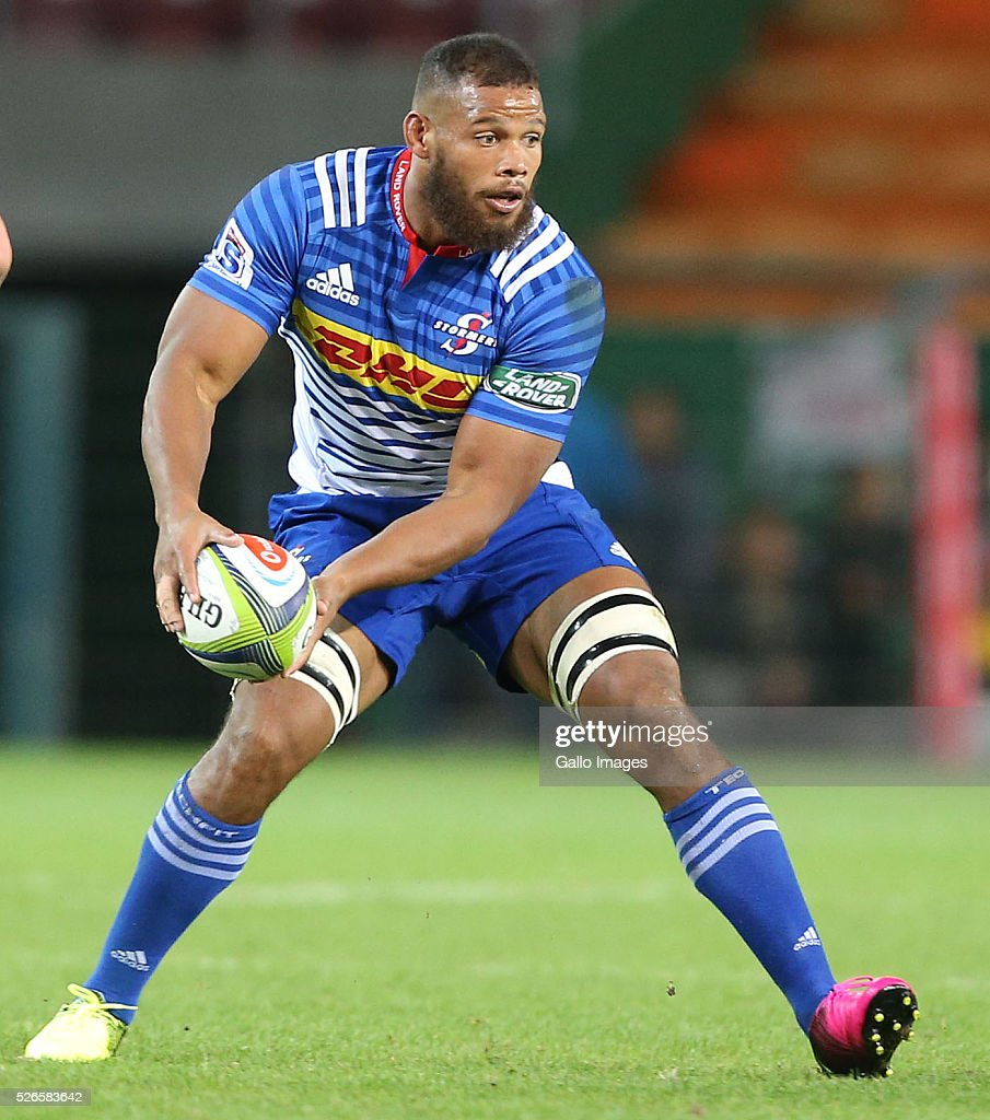 Nizaam Carr of the Stormers during the Super Rugby match between DHL Stormers and Waratahs at DHL Newlands Stadium on April 30, 2016 in Cape Town, South Africa.