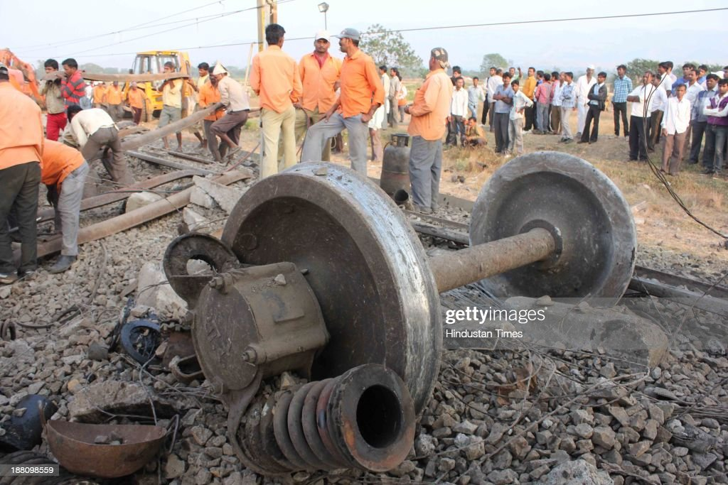 Nizamuddin - Ernakulam Lakshadweep - Mangala Express (Train No 12618), which derailed at Ghoti near Igatpuri in Nashik district of Maharashtra on November 15, 2013 in Nashik, India. Three passengers were killed and 50 others injured after 10 coaches of the Mangala Express derailed between Ghoti and Igatpuri stations. Many trains were cancelled, terminated or diverted due to the accident. Special arrangements were made by the railway authorities to take the rescued passengers from the site of the accident to Kasara and Igatpuri.