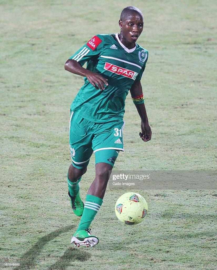 Njabulo Manqana during the Absa Premiership match between AmaZulu and Black Leopards from Princess Magogo Stadium on May 01, 2013 in Kwa Mashu, South Africa.