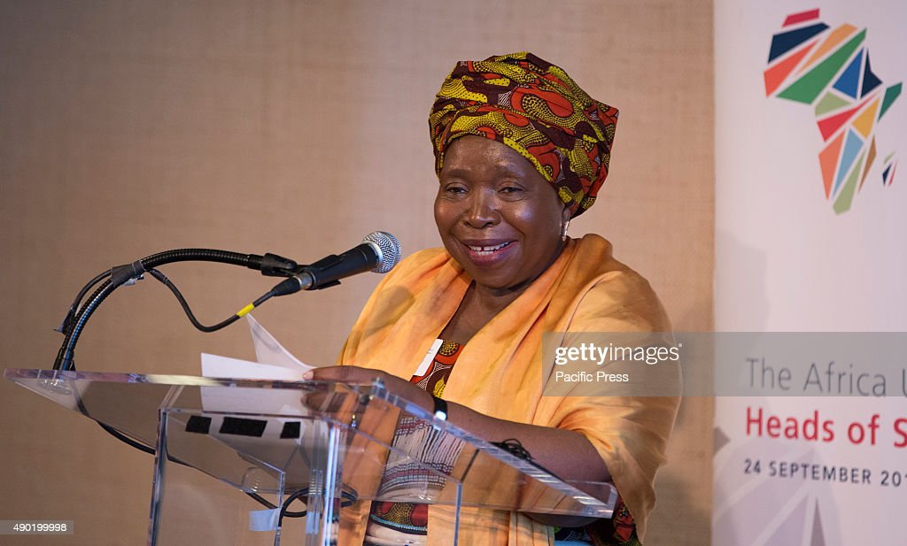 Nkosazana Dlamini Zuma, Chairperson of the African Union Commission speaks during a work lunch on the occasion of Africa Urban Agenda Initiative at the United Nations Headquarters in New York City.