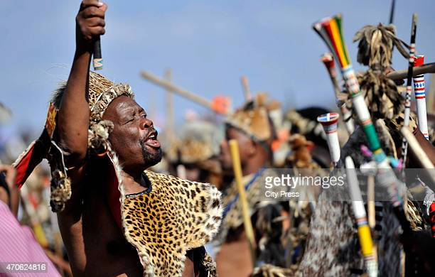 Nkosi Mpiyezintombi Mzimela during King Goodwill Zwelithini's wedding at Ondini Sports Complex on July 26 2014 in Ulundi South Africa Mafu was...