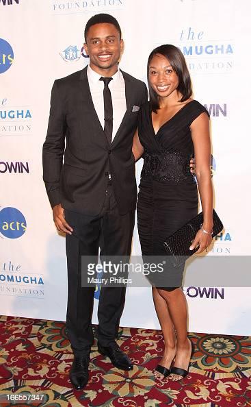 Nnamdi Asomugha and Allyson Felix attend the 7th Annual Asomugha Foundation Gala at Millennium Biltmore Hotel on April 13 2013 in Los Angeles...