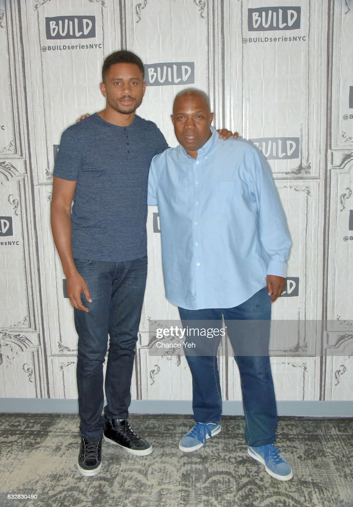 Nnamdi Asomugha (L) and Carl King attend Build series to discuss 'Crown Heights' at Build Studio on August 16, 2017 in New York City.
