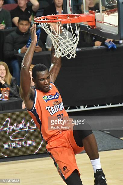 Nnanna Egwu of Taipans puts up a shot during the round six NBL match between the New Zealand Breakers and the Cairns Taipans at Vector Arena in...