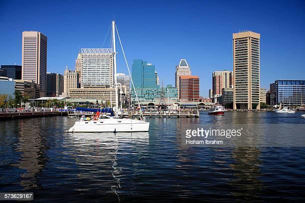 nner Harbor and Baltimore skyline, Maryland, USA