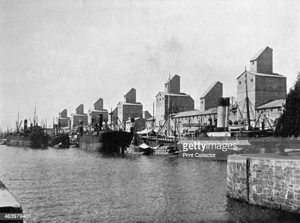 No 2 Dock and grain elevators Buenos Aires Argentina A print from Buenos Aires published by Mitchell's Book Store Cangallo