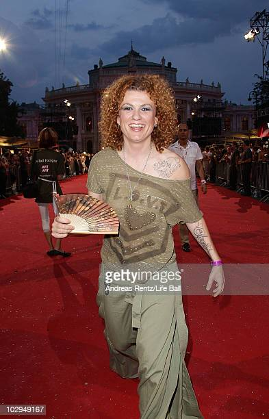 'No Angels' singer Lucy Diakowska attends the 18th Life Ball at the Town Hall on July 17 2010 in Vienna Austria The Life Ball is an annual charity...