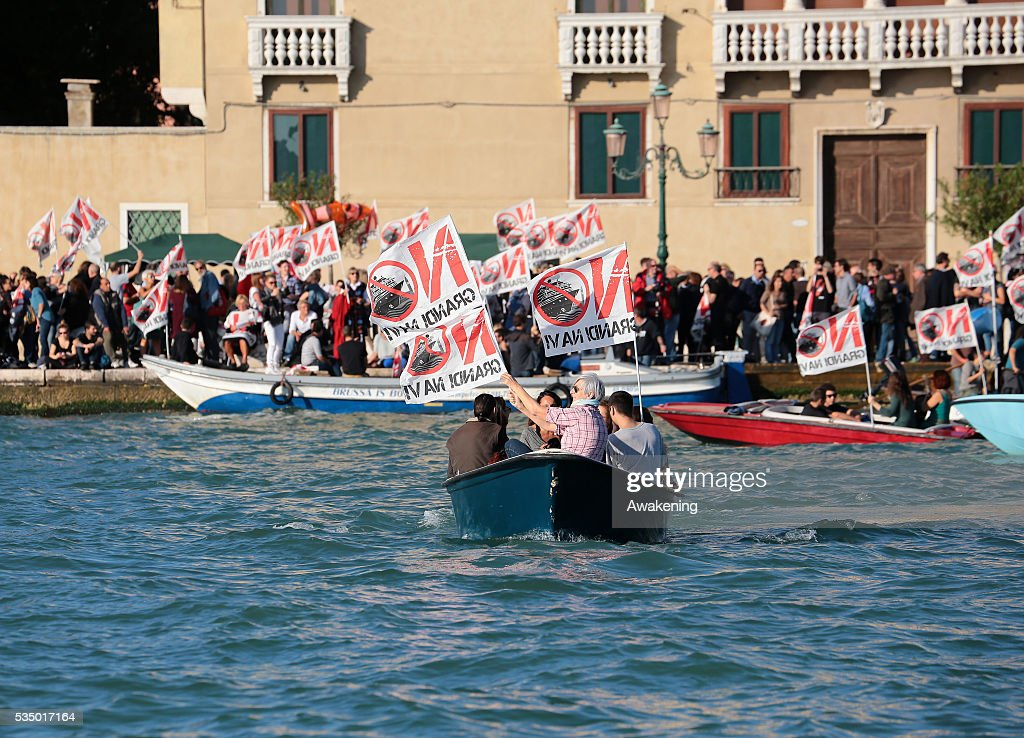 No Big Cruise Ships Protest In Venice Pictures   Getty Images
